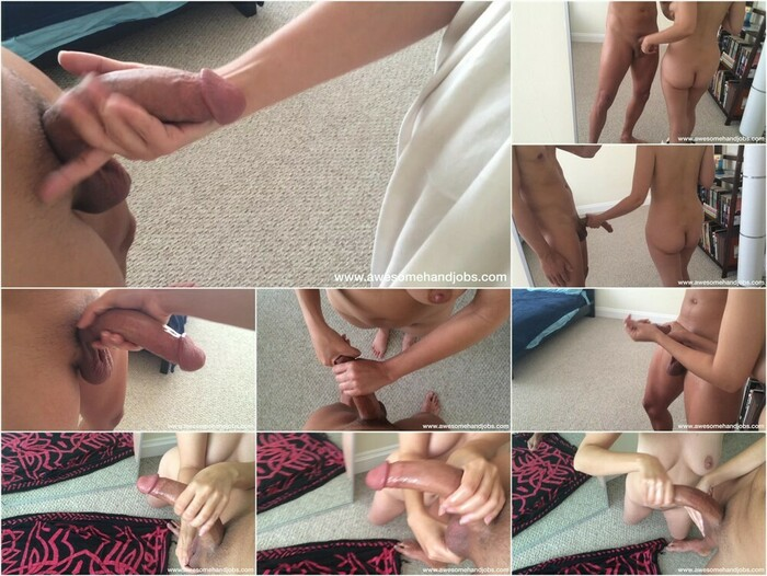 Awesome Handjobs – Big Tit Girl Strokes Me For A Huge Cumblast