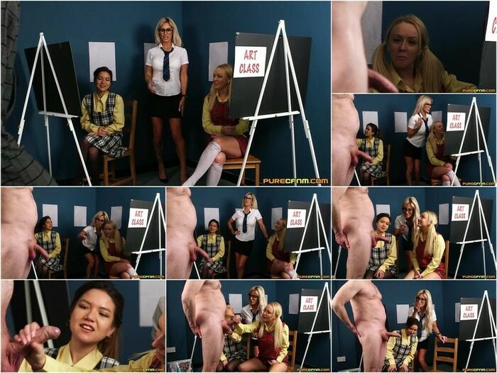 Pure CFNM – Amber Deen, Charlie Monaco & Maya Luna