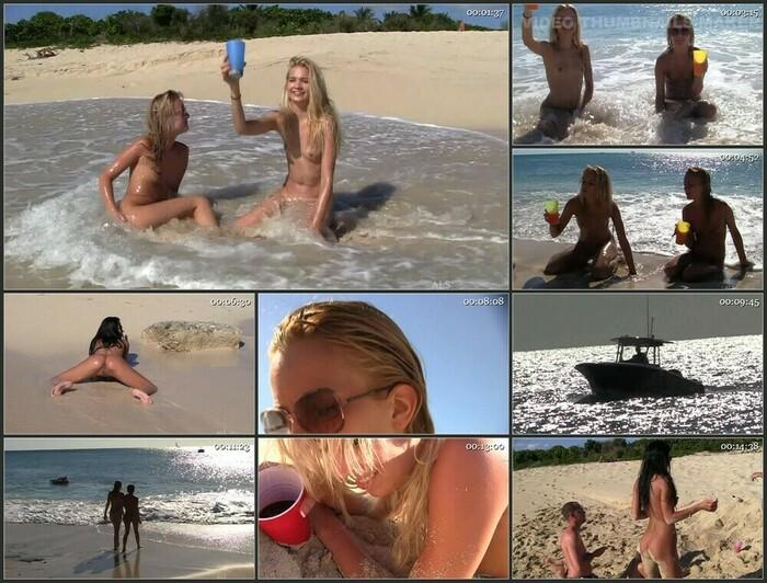 Franziska Facella and Sara Jaymes – Surf and Muff (HD)