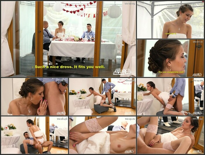 Cindy Shine Hot Czech Cindy Shine fucks stepson and gets cum on tits at her wedding (HD)