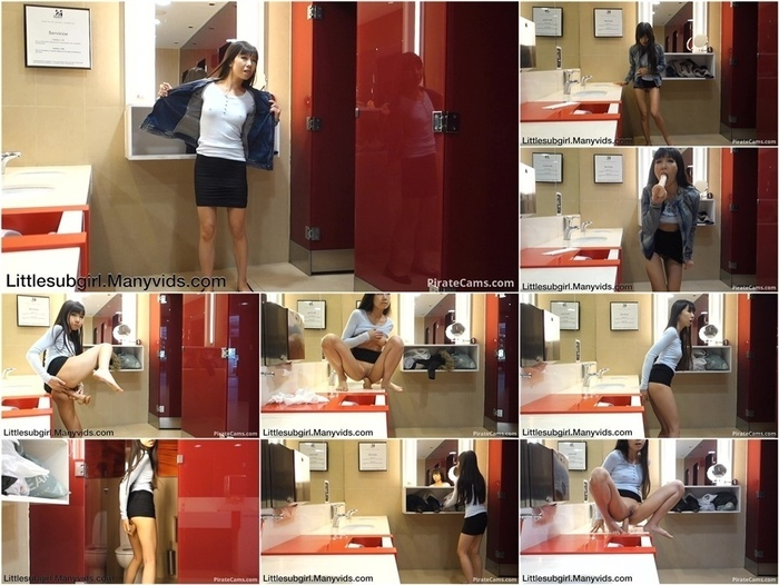 ManyVids Webcams Video presents Girl Littlesubgirl in Almost Caught Public Restroom AnalSquirt