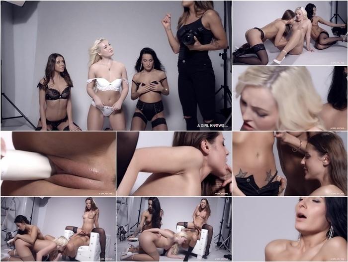 AGirlKnows – LetsDoeIt presents Lexi Dona & Silvia Dellai & Sybil & Lovita Fate in Cum together –