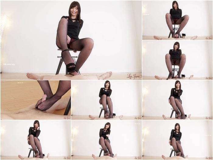 LegsJapan presents Shino Aoi Pantyhose Footjob