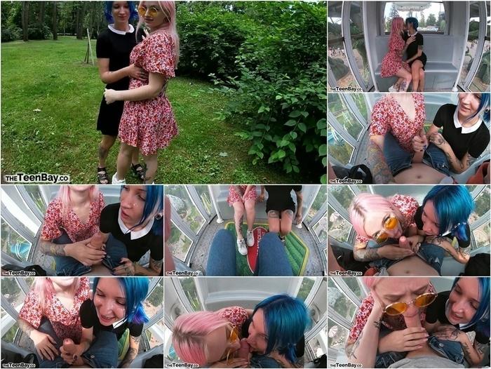 ManyVids presents keokistar in Risky Ferris Wheel Blowjob W Slutty Teens