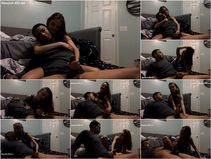 Young teen gives huge BBC a handjob – Lexie Fux