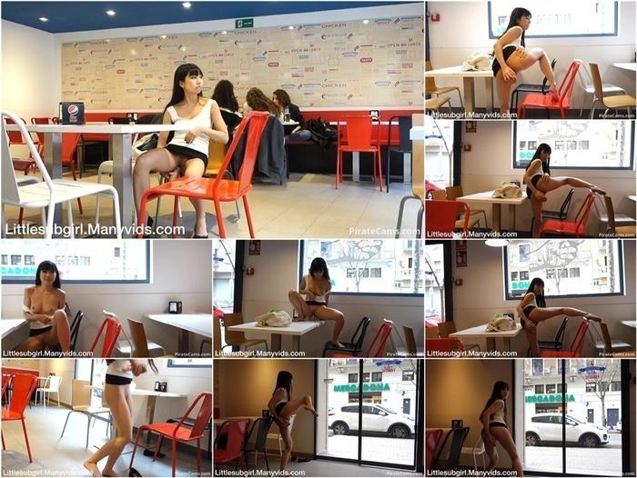 ManyVids Webcams Video presents Girl Littlesubgirl – Fast Food Restaurant Fuck, Anal & Squirt