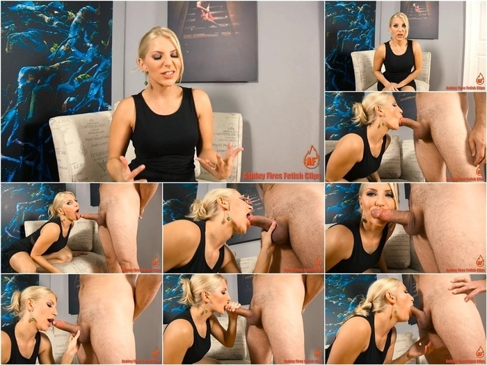 Ashley Fires Fetish Clips presents Ashley Fires in Sissy Cock Sucking
