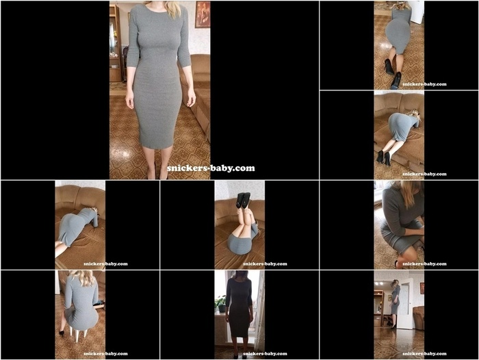 Snickers-Baby Tight long dress for lady  720p