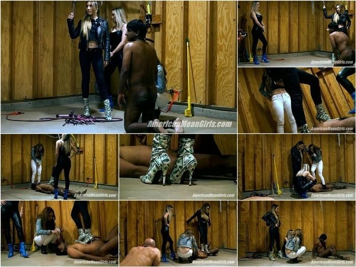 The Mean Girls – Goddess Platinum, Princess Skylar, Princess Carmela – Step On An Indian