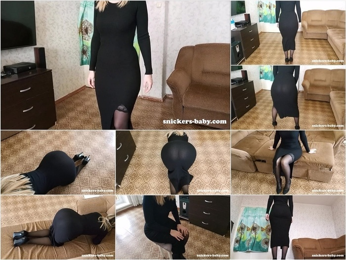 Snickers-Baby Sexy lady in evening dress  720p