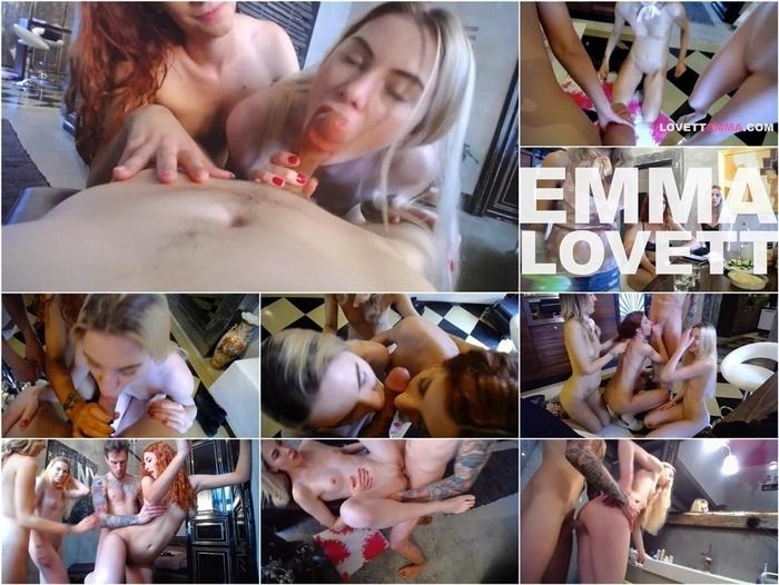PornHubPremium – Emma Lovett in Threesome with a sexy blonde Russian