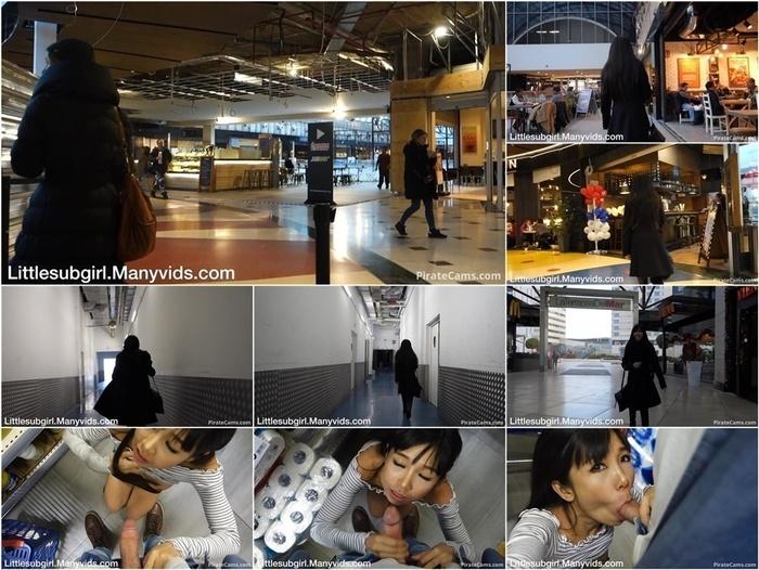 ManyVids Webcams Video presents Girl Littlesubgirl – Public Blowjob Supermarket & Naked Mall