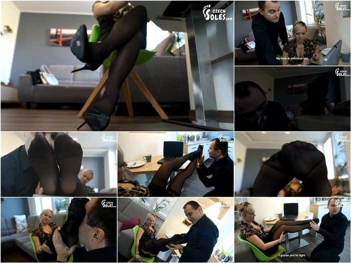 Czech Soles – Helping colleague for her sexy pantyhose and high heels